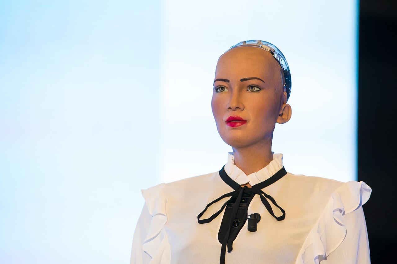 Sophia the Robot Volvo Art Session 2018