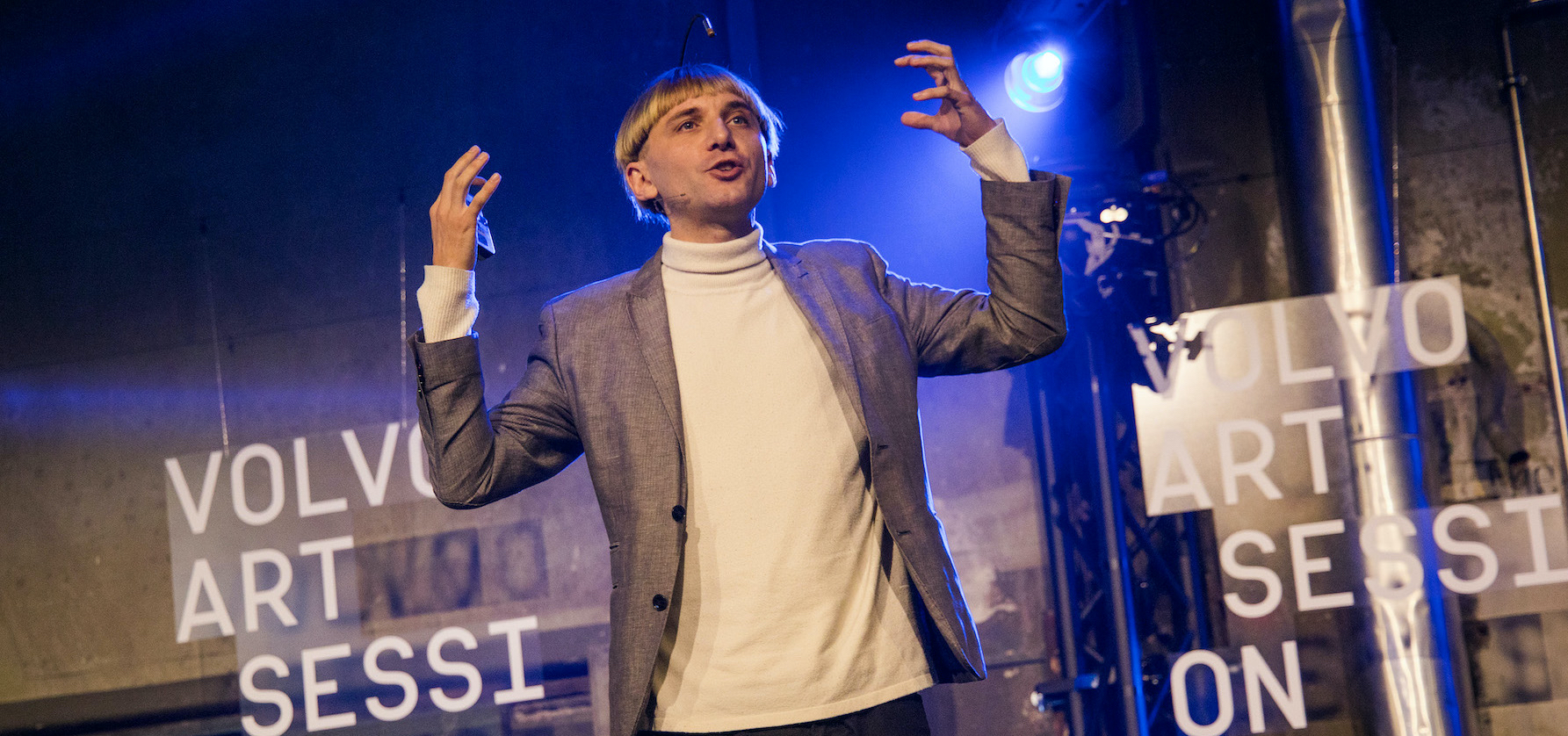 Cyborg Neil Harbisson Volvo Art Session 2019
